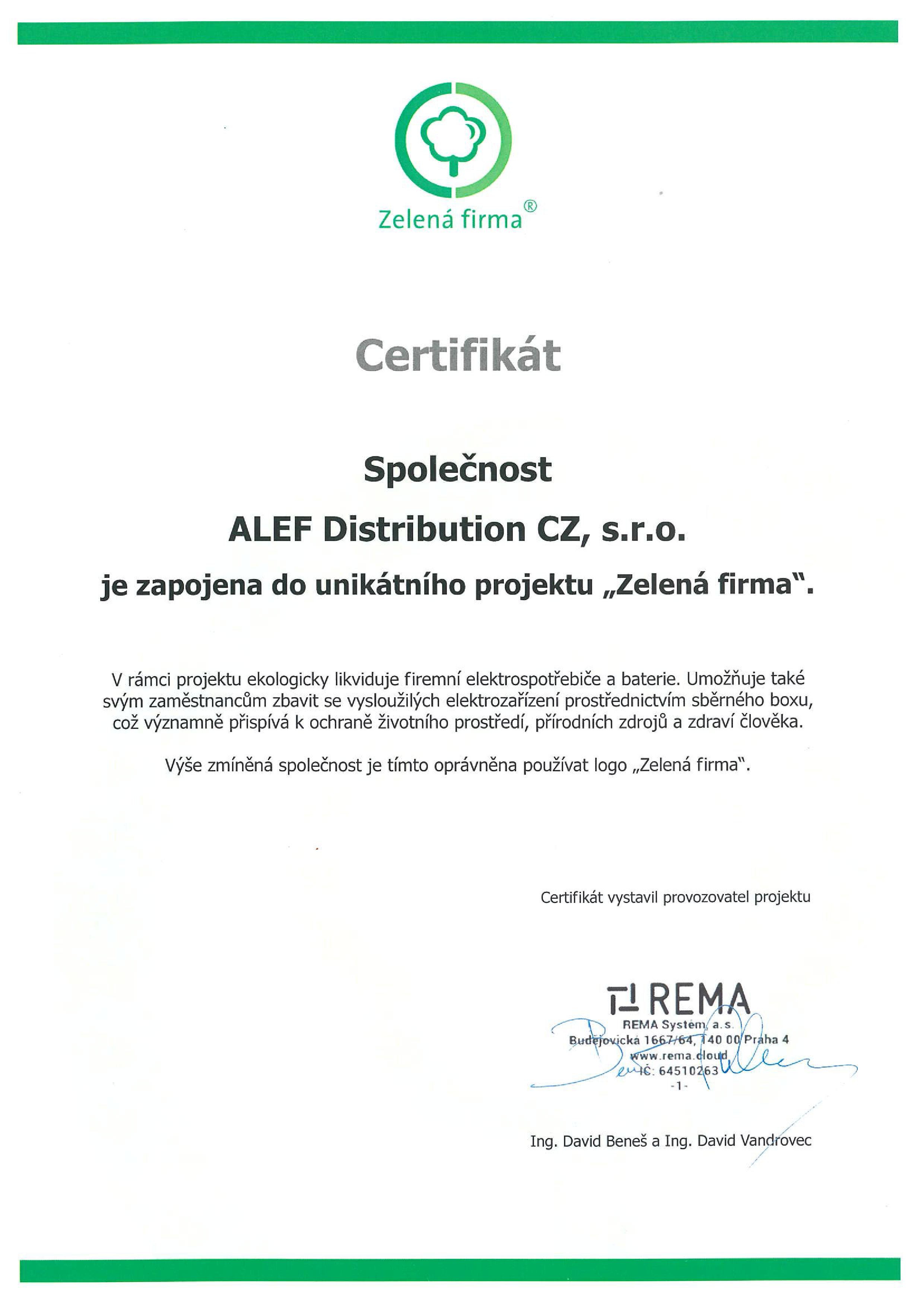 ALEF Zelená Firma